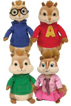 Alvin and The Chipmunk - Set of 4 [Alvin, Simon, Theodore, Britany]