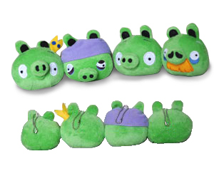 Angry Birds - 3.5-Inch Pig Hangers Set of 4