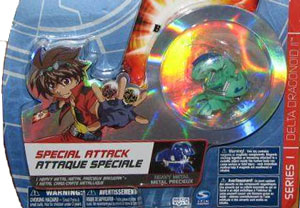 Bakugan Special Attack Booster - Aquos Green with Blue Stripes Delta Dragonoid