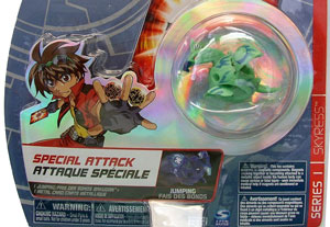 Bakugan Special Attack Booster - Aquos Green with Blue Stripes Skyress