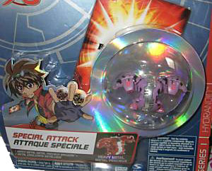 Bakugan Special Attack Booster - Darkus Purple with Black Stripes Hydranoid