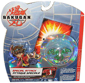 Bakugan Special Attack Booster - Ventus Green with Green Stripes Hydranoid LOOSE