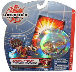 Bakugan Special Attack Booster - Subterra Tan with Tan Stripes Hydranoid