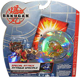Bakugan Special Attack Booster - Haos Tan with Grey Stripes Delta Dragonoid