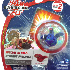 Bakugan New Vestroia Special Attack Booster - Aquos(Blue) Spin Dragonoid