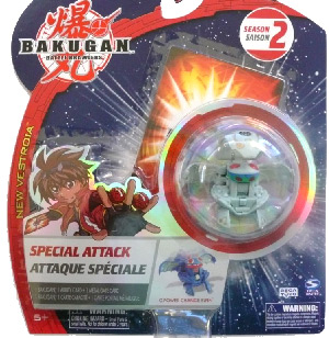 Bakugan New Vestroia Special Attack Booster - Haos(Grey) G-Power Change Elfin