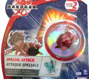 Bakugan New Vestroia Special Attack Booster - Pyrus(Red) Boost Ingram