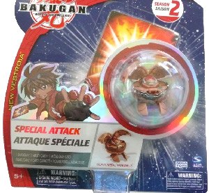 Bakugan New Vestroia Special Attack Booster - Subterra(Tan) Heavy Metal Vandarus