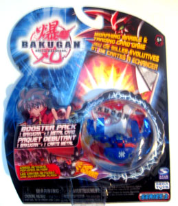 Bakugan - Aquos(Blue) Boosters Pack - Fear Ripper