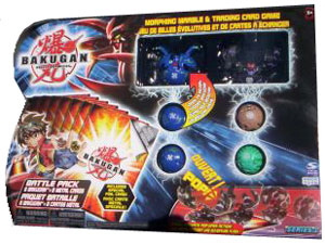 Bakugan Battle Pack - Aquos Robotallian[250G], Darkus Fear Ripper[300G], 4 Mystery
