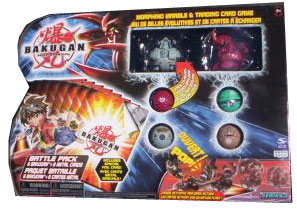 Bakugan Battle Pack - Haos Tigrerra[300G], Pyrus Dragonoid[400G], 4 More Boosters