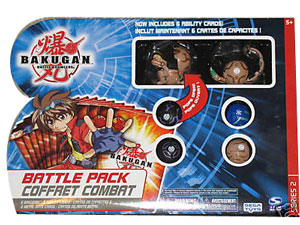 Bakugan Battle Pack - Tan Juggernoid[500G], Tan Centipoid[400G], 4 Mystery