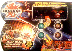 Bakugan Battle Pack - Darkus Fear Ripper[300G], Pyrus Griffon[250G], 4 Mystery