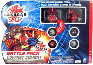 Bakugan Battle Pack - Pyrus Stinglash[510G], Pyrus Dragonoid[520G], 4 Mystery