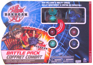 Bakugan Battle Pack - Ventus Stinglash[510G], Aquos Dragonoid[520G], 4 Mystery