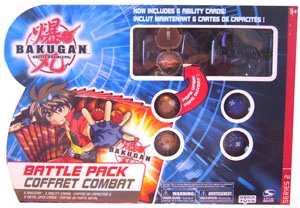 Bakugan Battle Pack - Subterra(Tan) Stinglash[510G], Darkus(Black) Dragonoid[520G], 4 Mystery