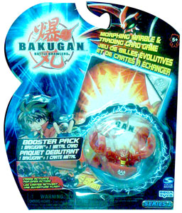 Bakugan - Pyrus (Red) Boosters Pack - Fear Ripper