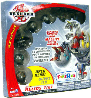 New Vestroia  Bakugan Haos Maxus Helios 7 In 1 Combiner Exclusive