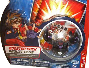 Bakugan - Darkus(Black) Boosters Pack - Series 2 Fear Ripper