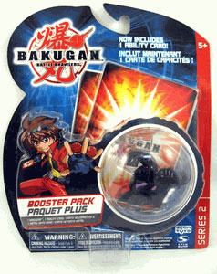 Bakugan - Boosters Pack - Series 2 Darkus(Black) Dragonoid