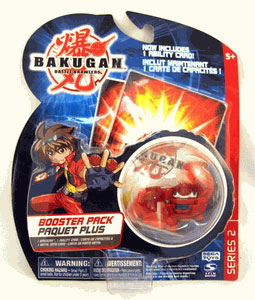 Bakugan - Boosters Pack - Series 2 Pyrus(Red) Gorem