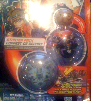 Bakugan Starter - Haos(Grey) Robotallion, Darkus(Black) Robotallion[420G], Subterra(Tan) Mystery