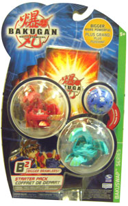 Bakugan B2 - Bakuswap Starters - Pyrus Ultimate Evolved Dragonoid, Ventus Wavern Naga, Mystery