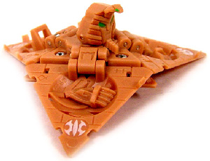 New Vestroia  Bakugan Trap - SubTerra(Tan) Triad Sphinx