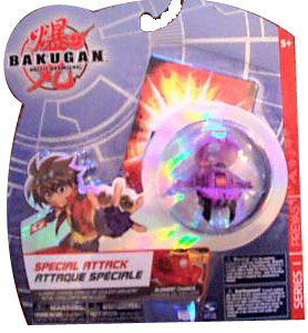 Bakugan Special Attack Booster - Darkus Purple with Black Stripes Preyas