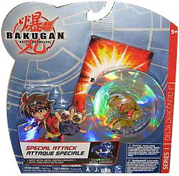 Bakugan Special Attack Booster - Haos Tan with Grey Stripes Delta Dragonoid