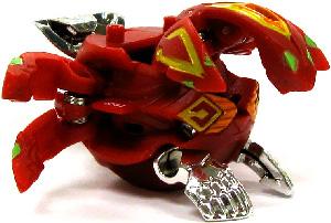 Bakugan Gundalian Invaders - BakuBoost - BakuMetalix - Pyrus(Red) Phosphos[Battle Gear Ready]