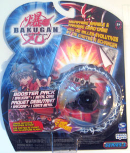 Bakugan - Darkus(Black) Boosters Pack - Saurus
