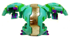 Bakugan - Ventus(Green) Boosters Pack - Chrome Hydranoid