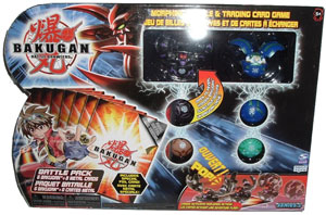 Bakugan Battle Pack - Darkus Fear Ripper[300G], Aquos Griffon[250G], 4 Mystery