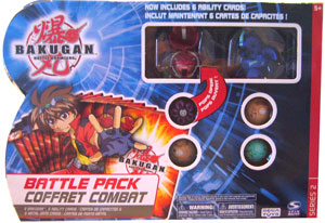Bakugan Battle Pack - Pyrus Stinglash[510G], Aquos Dragonoid[520G] , 4 Mystery