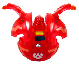 Bakugan - Pyrus(Red) Boosters Pack - Robotallion 370G[LOOSE]