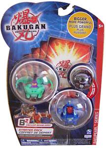 Bakugan B2 - Bakupearl Starters - Ventus Ravenoid, Aquos Warius, Mystery