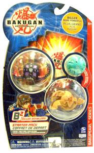 Bakugan B2 - Bakupearl Starters - Darkus Wormquake, Subterra Storm Skyress, Mystery