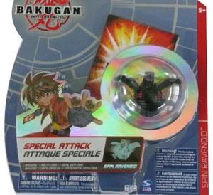 Bakugan Special Attack Booster - Darkus Spin Ravenoid