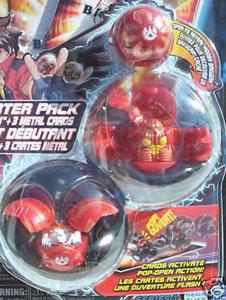Bakugan Starter - Pyrus(Red) Reaper, Griffon, Mystery