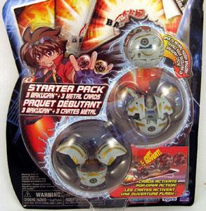Bakugan Starter - Haos(Grey) Griffon, Robotallion, Mystery