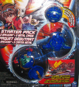 Bakugan Starter - Aquos(Blue) Stinglash, Saurus, Mystery