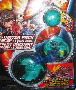 Bakugan Starter - Ventus(Green) Dragonoid, Laserman[300G], Mystery
