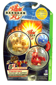 Bakugan B2 - Bakuswap Starters - Subterra Ultimate Evolved Dragonoid, Pyrus Ultimate Evolved Dragonoid, Mystery