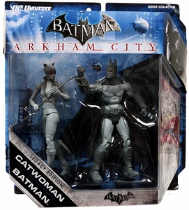 Batman Legacy - Arkham City - Batman and Catwoman - Black and White