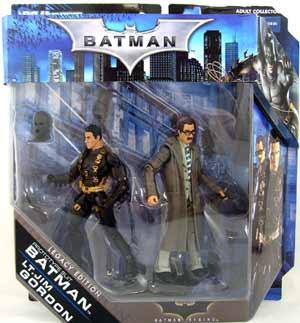 Batman Legacy - Batman Begins - Prototype Batsuit Batman and Lt Jim Gordon