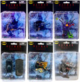 Batman Mini Figures Series 1 - Set of 6 (Batman, Catwoman, Harley Quinn, The Joker, Robin, and the Batmobile)