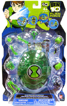 Ben 10 Alien Creation Green Transporter with Upchuck and Heatblast