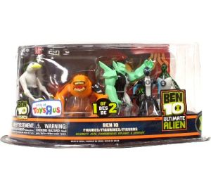 Ben 10 Ultimate Alien 5 Pack - Wildmutt, XLR8, DiamondHead, Ripjaws, Upgrade - Set 1 of 2
