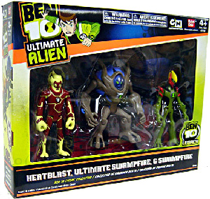 Ben 10 Ultimate Alien - 3-Pack Collection - Heatblast, Swampfire, Ultimate Swampfire